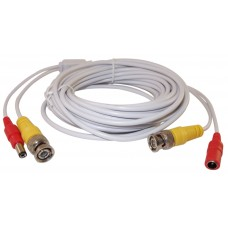 EV-C025VP-W 25 Feet White Cable CCTV Security Camera Power Video PreMade Cable