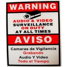 EV-SIGN Security Camera CCTV Warning Sign English Spanish