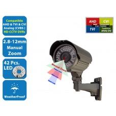HD Security Camera TVI AHD CVI Analog Night Vision Outdoor Indoor Bullet CCTV