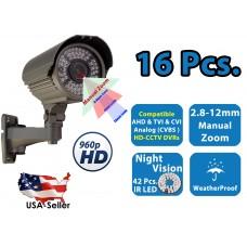 16x 960P HD 4 in 1 Night Vision Outdoor Indoor CCTV Home Bullet Security Camera
