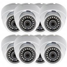8 Pcs 1080p Dome CCTV Camera Wide Angle Lens Indoor Outdoor Weatherproof Metal casing