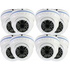 EV-CDM372FX V.12-W  - 8 Pcs. 1200TVL High Resolution SONY Cmos Sensor, 3.6mm Fix Iris Lens Vandalproof Powerful IR Night Vision ( Day & Night ), Indoor & Outdoor Security Dome Camera