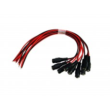 EV-DJ01F 10pcs DC Female end Jack Power Cable With Lead End Pigtail for CCTV Security Camera