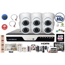 Set# 2.  8 Ch. AHD DVR for CCTV Security Surveillance Camera System Complete Set with 2TB HDD + 8 pcs 1.3 MegaPixel HYBRID Day Night Vision  2.8-12mm Varifocal Lens Indoor & Outdoor use Dome Camera