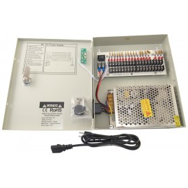 EV-PB18-10P Power Box - 18 Ch Channel 10A Amp Power Supply Switch Box 12V DC for CCTV DVR Security Camera