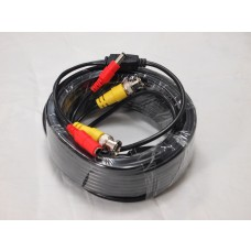 EV-C050VP 50 Feet Black Cable CCTV Security Camera Power Video Cable - Read-Made Cable