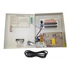 EV-PB09-05P Power Box - 9 Ch Channel 5A Amp Power Supply Switch Box 12V DC for CCTV DVR Security Camera