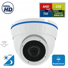 1080p HD 2.8mm Wide Angle CCTV Security Camera 4-in-1 TVI/AHD/CVI/Analog (960H/CVBS) Day Night Vision Outdoor Indoor Weatherproof CCTV Security Surveillance Camera