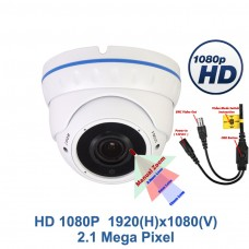 Evertech 1080P High Definition HD Night Vision Manual Zoom Outdoor Indoor Security Camera Dome