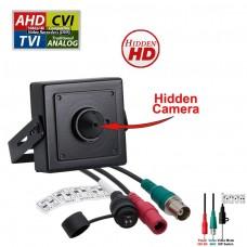 1080p HD 4in1 AHD TVI CVI, ANALOG Indoor Hidden Camera with Pinhole Lens