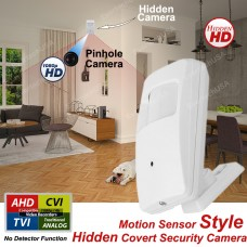 1080p Hidden Nanny Covert PIR Security Camera with Night Vision, Day Night Motion Detector Style AHD TVI CVI Analog Camera Only Indoor Using