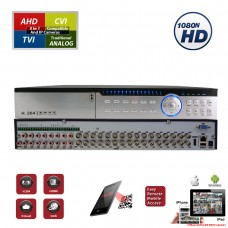 32 Channel H.265 4in1 HD CCTV AHD TVI CVI Analog  Home Office Professional DVR Recorder  (Hard Drive is not included)