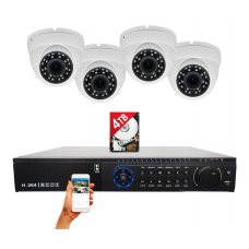 32 Channel H.265 HD Surveillance Video Recorder with 4 Pcs. 5x Motorized 1080P Auto-focus Night Vision Outdoor Indoor camera for Cash Register and License Plate w/4TB Hard Drive Memory for Recording and Playback