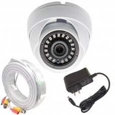 1080P CCTV Dome Security Camera w/ 50 feet Cable and Power Adapter