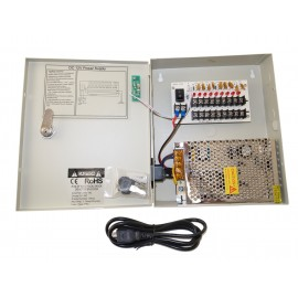 EV-PB09-05P Power Box - 9 Ch Channel 5A Amp Power Supply Switch Box 12V DC for CCTV DVR Security Camera